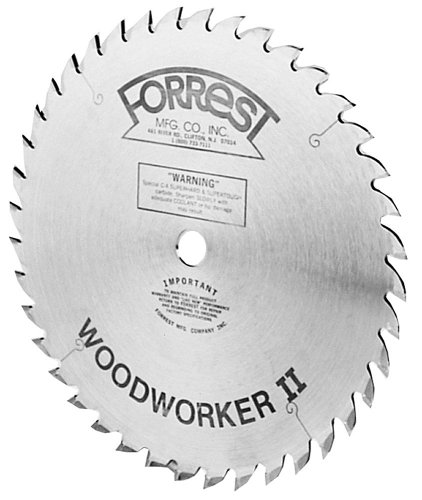 Forrest WW10407125 Woodworker II 10-Inch 40 Tooth ATB .125 Kerf Saw Blade with...