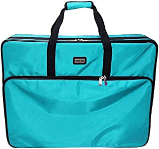 """Tutto 28"""" Embroidery Project Bag In Turquoise"""