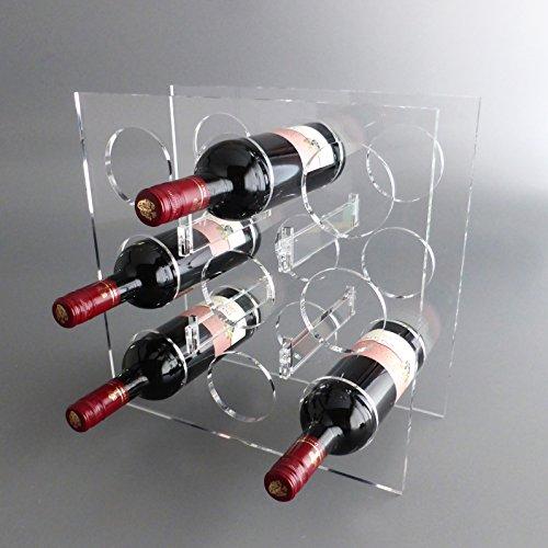 lobotec-acryl Weinregal, Flaschenregal Bacchus Maxi Plexiglas für 9 Flaschen