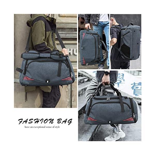 51Q1XyhOuVL. SS600  - NUBILY Bolsa Deporte Hombre Bolsas Gimnasio Mujer Bolso Fin de Semana Viaje con Compartimento para Zapatos Gym Bag…