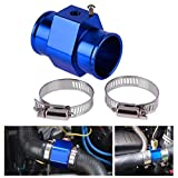 NO LOGO KF-Spring Medidor de Temperatura del Sensor de Temperatura del Coche Universal Auto Agua Azul común de la Pipa del Manguito del radiador Metro del Coche del Tubo Kit Adaptador de Conector