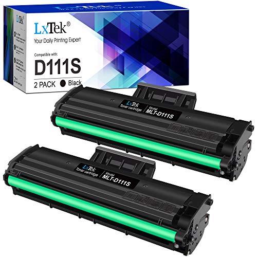 LxTek Compatibile Toner MLT-D111S Sostituzione per Samsung MLT-D111S D111S per Samsung Xpress M2026W M2026 SL-M2070 SL-M2070W SL-M2070F SL-M2070FW M2020W M2020 M2022 M2022W, 2 Nero