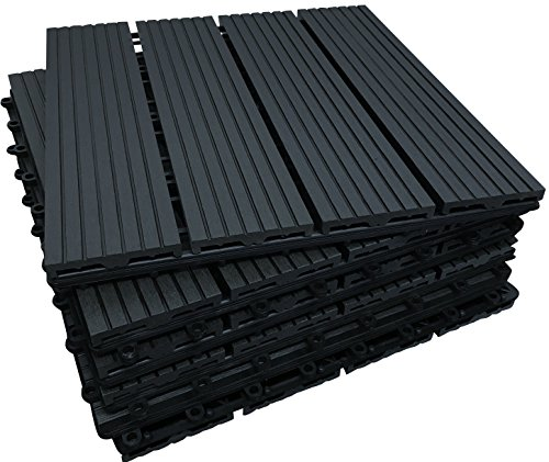 The Famous Click-Deck Composite Decking Tiles - Patio, Balcony, Roof...