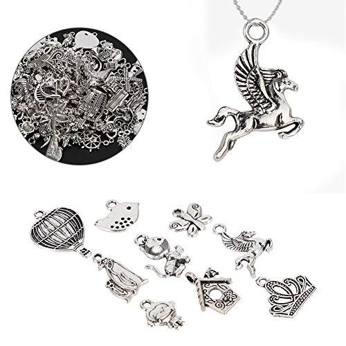 DIY Craft Hanger Accessoires, Geschikte stukken Inspiratie Woorden Electroplating Metal Made Cupronickel Materiaal voor Armband Maken (Diep Zilver)