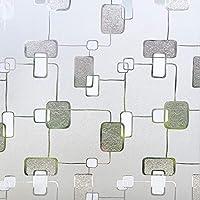 FUFU 窓用フィルム 3D装飾ウィンドウフィルム、プライバシーウィンドウステッカー、バスルームオフィス会議リビングルームにはのりホログラス膜不規則なパターン、アンチUVウィンドウステッカー、 貼り直し可能 シン (Size : 90×200CM/35×78IN)
