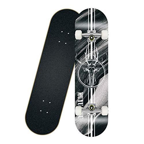 GXYAS Komplettes Skateboard, Kinder-Skateboard, komplettes Board mit ABEC-7-Lager 7-lagigem Ahorndeck, geeignet für Teenager Anfänger Mädchen Jungen Kinder Erwachsene B