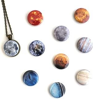 interchangeable planet necklace