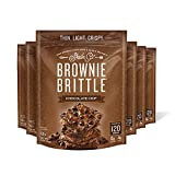 Sheila G's Brownie Brittle Chocolate Chip- Low Calorie, Healthy Chocolate, Sweets & Treats Dessert, Thin Sweet Crispy Snack-Rich Brownie Taste with a Cookie Crunch- 5oz, Pack of 6