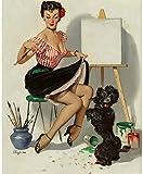 Gil Elvgren Pinup Girl Some Help Down Boy 1952 p7194 A3 Canvas - Art Painting...