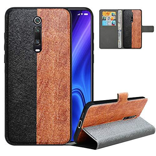 LFDZ Handyhülle für Mi 9T Hülle,Premium 2in1 Abnehmbare PU Ledertasche für Mi 9T Pro Hülle,RFID-Blocker Flip Hülle Tasche Etui Schutzhülle für Redmi K20/Redmi K20 Pro/Pocophone F2/F2 Pro,Black/Brown