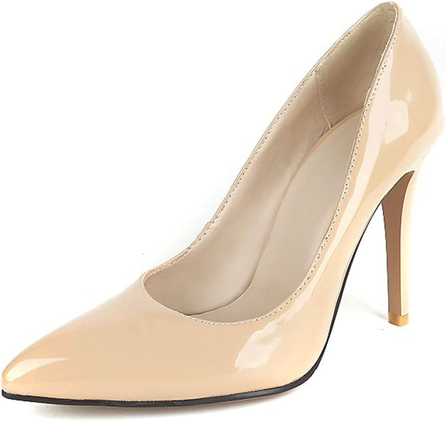 Kaloosh Women's Classy Patent Leather Pointed Toe Stiletto High Heel Office Court shoes Party Pumps