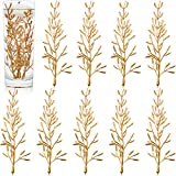 30 Pieces Artificial Flowers for Floating Candles Centerpiece 6 Inch Mini Flower Filler Vase Fillers Filling in Floating Candles for Wedding Dinning Table Party Home Bar Restaurant Decoration (Gold)