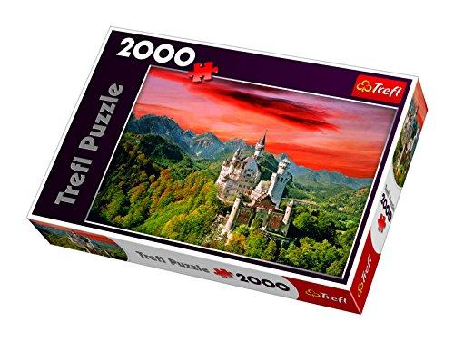 TREFL 27050 - Puzle (2000 Piezas), diseño del Castillo Neuschwanstein de Baviera