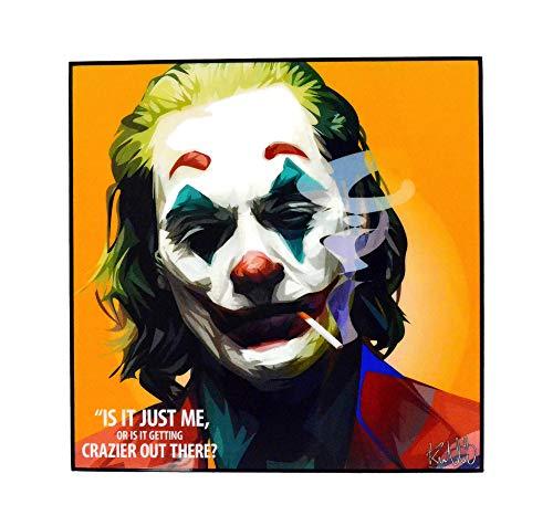 Pop Art Fanart Poster Movie Film Quotes [JOKER - Joaquin Phoenix] DC Villain Framed Acrylic Canvas Poster Prints Modern Wall Decor, 10'x10'