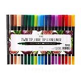 Sense 10904 Felt Tips and Fineliner Pens for Adult Colouring, 1.2mm/0.4mm, Pack of