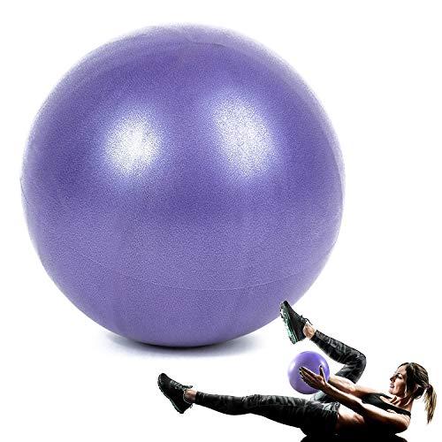 WELLXUNK® Yoga Fitness Ball, 25cm Morbida Pilates Palla, Antiscivolo Esercizio Ball, Anti Burst Yoga Palla, Palla Pilates Piccola Ginnastica Ritmica per Fitness Equilibrio, Core Training (Viola)