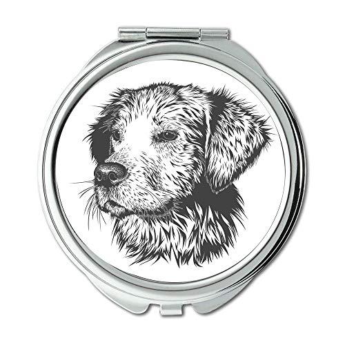 Espejo de viaje, espejo de perro, espejo portátil, espejo de bolsillo
