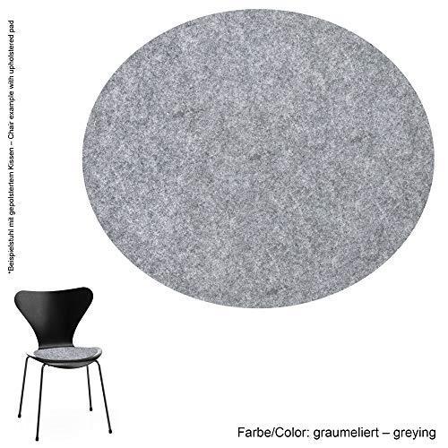 Feltd. Eco Filz Auflage 4mm Simple - geeignet für Fritz Hansen, Arne Jacobsen Serie 7 Stuhl, 3107 // - 29 Farben inkl. Antirutschunterlage (Graumeliert)