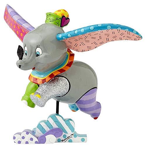 Disney Britto Collection Britto Dumbo Flying Figurine, Resin, Multicolour, 25 x 15 x 19 cm