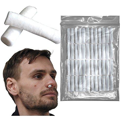 Steroplast Nasenstöpsel, 100 % Baumwolle, 3 cm, zum Schutz vor Nasenbluten bei Sport, Rugby und Fußball