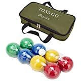 90mm Backyard Bocce Set with Carry Bag, Includes 8 All Weather...