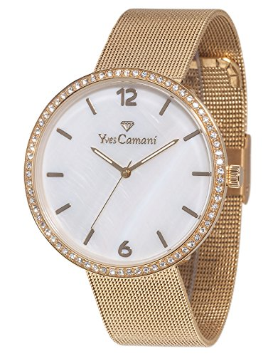 Yves Camani Damen-Armbanduhr Adorian Analog Quarz YC1086-C