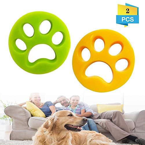 Removedor de pelo de mascotas para lavadora, atrapador de cabello, filtros de pelusa para lavadora, pelotas de limpieza reutilizables para lavandería flotante de pelos de mascotas, 2 unidades