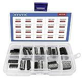 XTVTX 40PCS Circuito Integrado Chip Regulador de Voltaje Fijo Positivo IC Surtido Kit opamp Low Power 74LS-00,74LS-245,74HC-00,74LS-138,74HC-138,74HC-595 etc.
