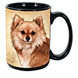 Imprints Plus Dog Breeds (A-D) Taza de café de 15 onzas con K-Nine Cash no negociable