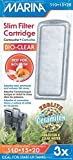 Marina Slim Filter Bio - Cartuchos transparentes, 9 en total (3 paquetes con 3 unidades por paquete).