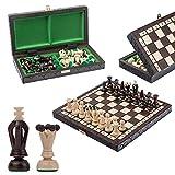 Precioso juego de ajedrez de madera THE KINGDOM de 31 cm / 12 pulgadas, juego de ajedrez clásico hecho a mano