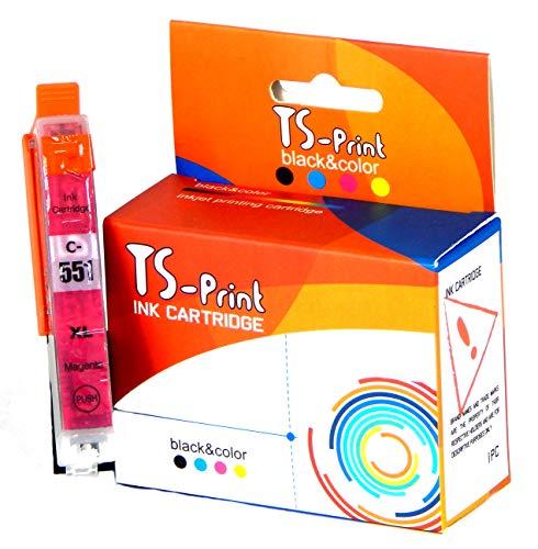 TS-Print Ersatz Tintenpatronen Kompatibel Canon CLI-551 XL Magenta PIXMA IP-7200 IP-7250 IP-8750 IX-6850 MG-5450 MG-5550 MG-5650 MG-6350 MG-6450 MG-6650 MG-7150 MG-7550 MX-725 MX-925
