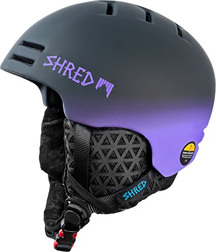 Shred slam-Cap Dark Fader Skihelm-Unisex, Schwarz/Lila, Gr. M-XL