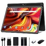 Tablet 10 Zoll Android 10.0,Google Tablett Pad mit Tastatur, Maus & Stift, 32GB ROM 128GB erweiterbar,Octa-Core-Prozessor,13MPund5MPKamera,1920x1200 IPS FHD-Bildschirm, GPS WiFi Buletooth OTG , schwarz
