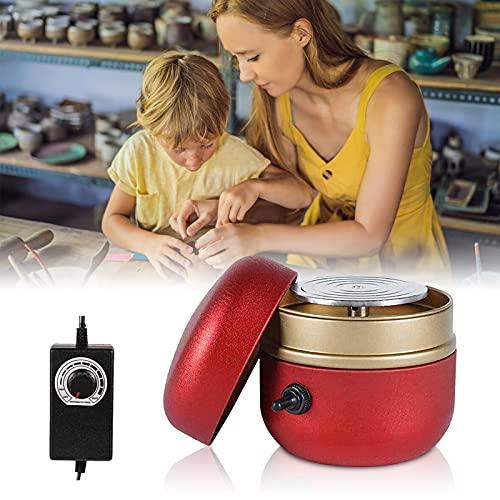 TTLIFE Mini máquina de cerámica, placa giratoria eléctrica de 1500 RPM, rueda...