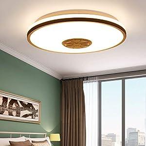 Youool plafón led techo,lamparas de techo dormitorio 36 W con altavoz Bluetooth, control remoto de la aplicación + brillo ajustable + cambio de color,focos led interior techo