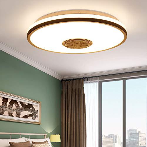 Youool lamparas de techo musica 36 W con altavoz Bluetooth / WiFi, aplicación inteligente y control remoto, lámpara de techo moderna regulable para dormitorio (Bluetooth+wifi)