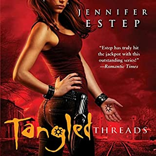 Tangled Threads     Elemental Assassin, Book 4              Written by:                                                                                                                                 Jennifer Estep                               Narrated by:                                                                                                                                 Lauren Fortgang                      Length: 10 hrs and 16 mins     3 ratings     Overall 5.0