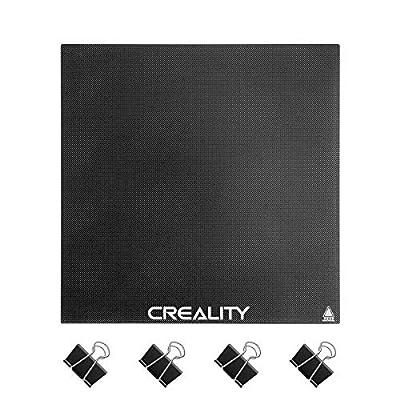 Creality Ender 3 Glass Bed Upgraded 3D Printer Tempered Glass Plate Build Surface for Ender 3/ Ender 3 Pro/Ender 5, 235x235x4mm
