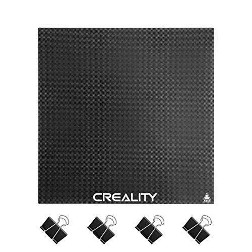 Creality Piattaforma di stampa su vetro 3D, con Rivestimento microporoso, Con quattro clip di fissaggio, 235 x 235 x 4 mm