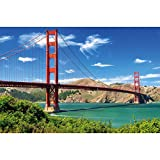 GREAT ART XXL Poster – Golden Gate Bridge – Wandbild