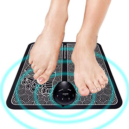massagematte,Elektrisches fussmassagegerät,fußmassage, 6 Modi massagegerät für füße,EMS Intelligente Fussmassagegerät für Entspannung, Tragbare Massagematte Muskel-Stimulatior