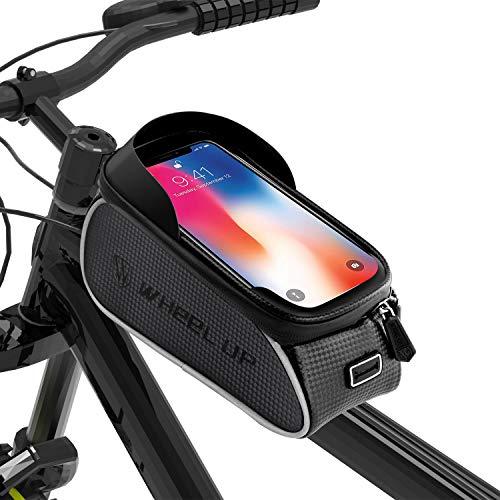 BAONUOR Borsa Telaio Bici, Borsa da Manubrio per Biciclette Impermeabile, Borse Biciclette Supporto...