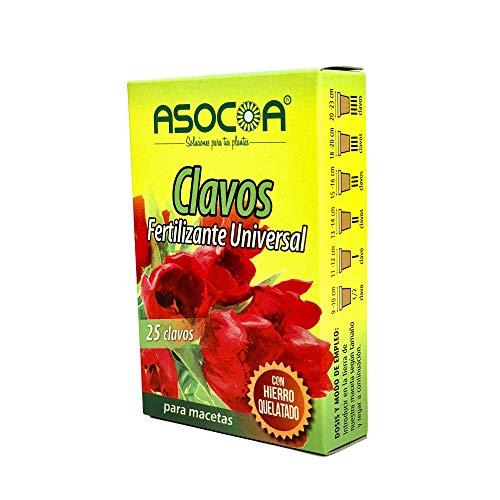 ASOCOA COA122 Abono Universal-25 Clavos 45 grs, Amarillo