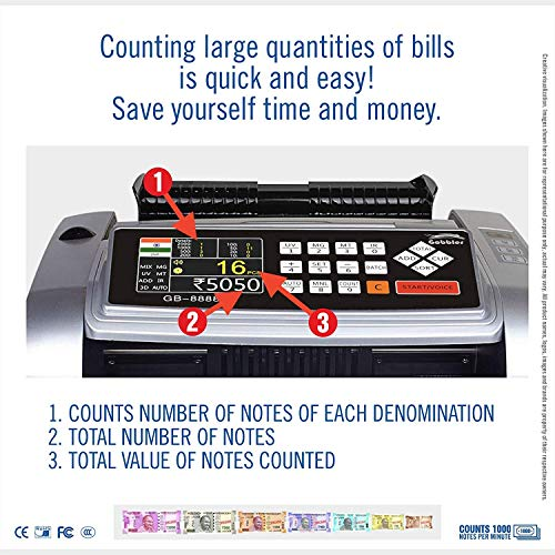 DishanKart Mix Note Value New Currency Counting Machine and Fake Note Detection Technology