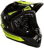 O'Neal Casco Backflip RL2 Bungarra Nero Giallo Fluorescente, Hi-Vis Fidlock DH FR MTB Bicicletta...