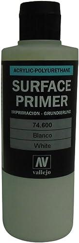 Vallejo - Apprêt pour maquette - 200ml - Polyuréthane - Coloré blanc