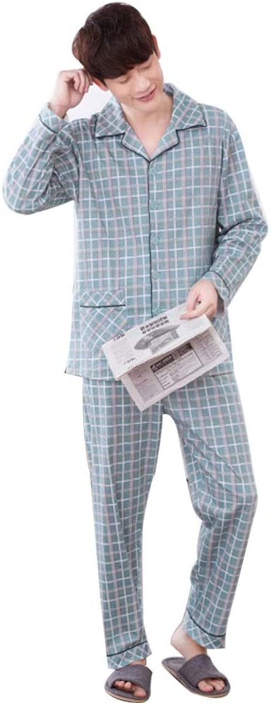 Pijamas Ropa De Noche Informal Hombres 100% Algodón Set For ...
