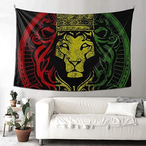 NA Tapiz de pared Hippie Art Tapiz para colgar en la pared, manteles extra grandes, bandera africana, el Rey León de Judah Rasta Rastafari Jamaica Reggae para dormitorio, sala de estar, dormitorio