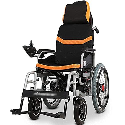 Elektrischer Rollstuhl Leichter Rollstuhl Zusammenklappbarer Elektrorollstuhl Elektrorollstuhlantrieb Tragbarer Elektrorollstuhl mit großen Rädern